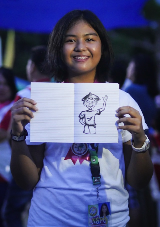 HAPPY TO BE HERE. Nina Tumarao, an editorial cartoonist, is both nervous and proud to be at NSPC 2017. Photo by Vina Salazar/Rappler