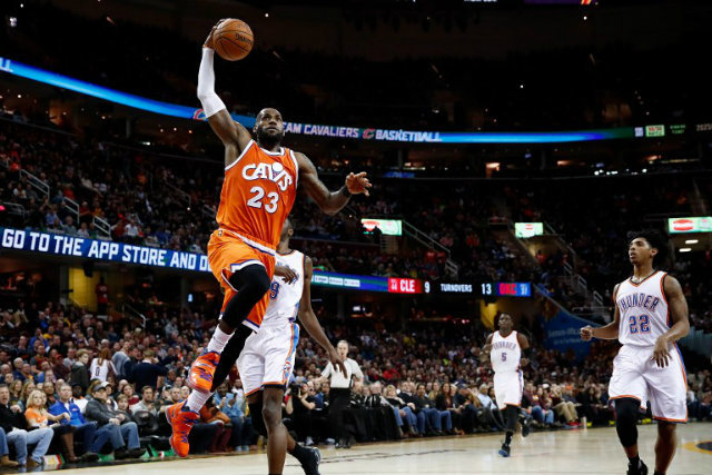 Image result for NBA: James shines as Cavs withstand big night from Wiggins