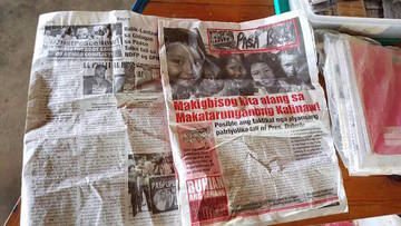 REBEL NEWSPAPER? A newspaper reporting on the ongoing peace talks was among those recovered from the possession of the slain NPA rebel. Photo from the military