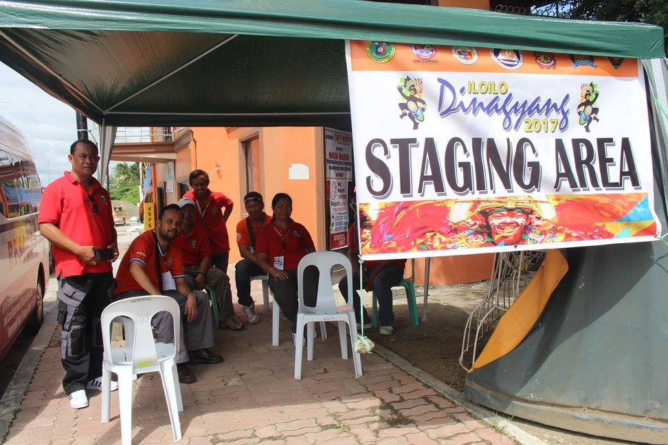 STAGING AREA. Emergency responders prepare for the culmination of the Dinagyang Festival in Iloilo City on Sunday, January 22. Photo courtesy of OCD VI
