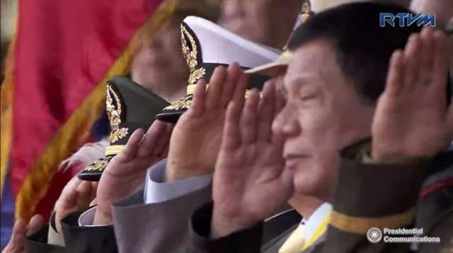 President Rodrigo Duterte. RTVM screengrab