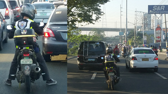 VOLUNTEERISM. Motorcycle rider Chrisangel Montebon helps rides in front of an ambulance to clear the way. Photo courtesy of Richie Reyes