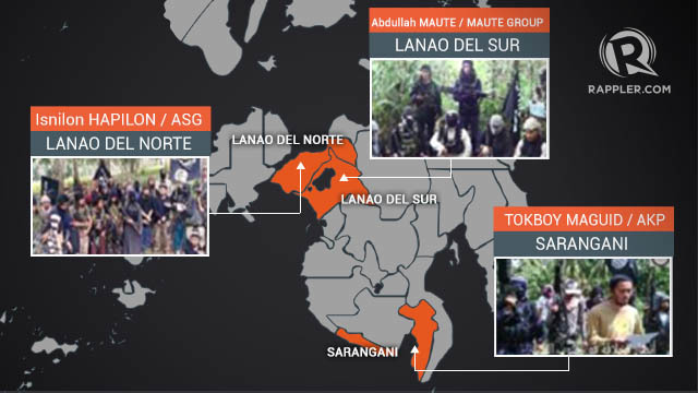 MOVEMENT. Hapilon and members of ASG transfer from their base in Basilan to Central Mindanao, allegedly to scout a future Caliphate, according to PH Defense Secretary Delfin Lorenzana