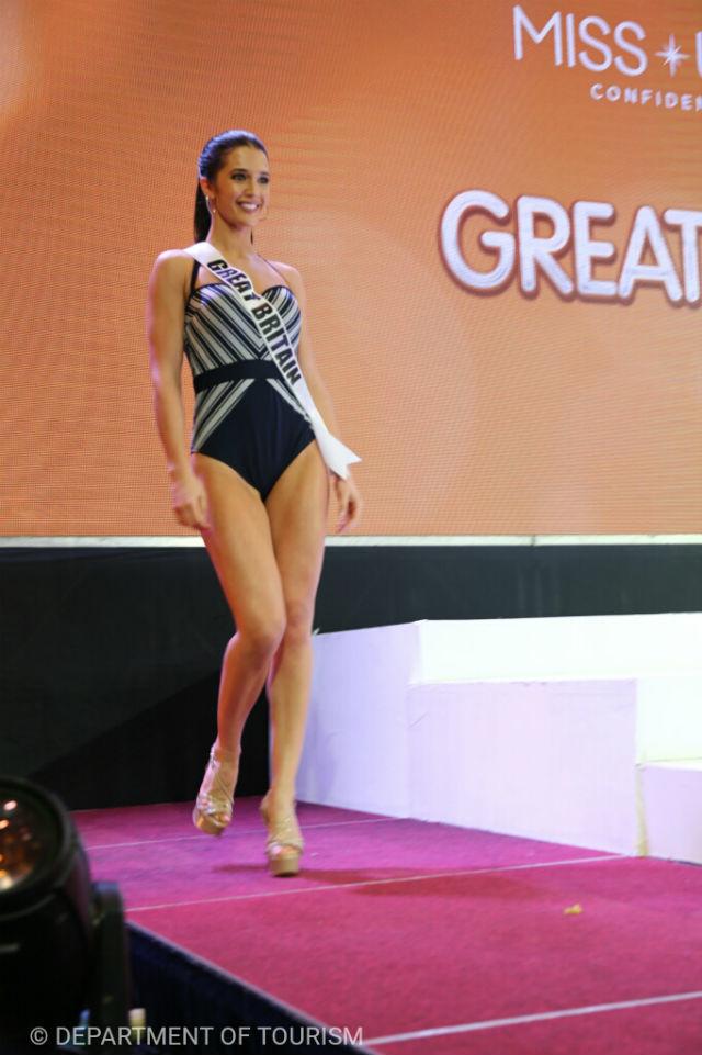 The contestants of Miss Universe 2016 in swinsuit presentation Britain_D8A7C04E0F1B4268852F46E8D92AC96A