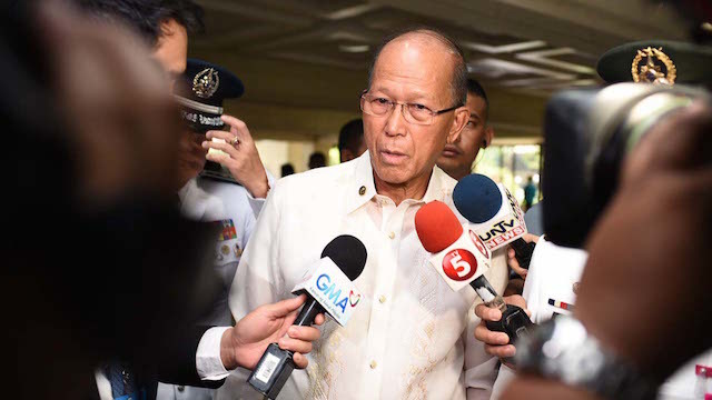 DEFENSE DEAL. Philippine Defense Secretary Delfin Lorenzana says the EDCA will be implemented in 2017. File photo by Martin San Diego/Rappler