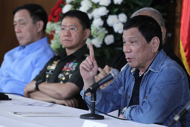 TALKS COLLAPSE. President Rodrigo Duterte scraps talks with communist rebels a day after he lifted the government ceasefire with the New People's Army. Photo by Ace Morandante/Presidential Photo