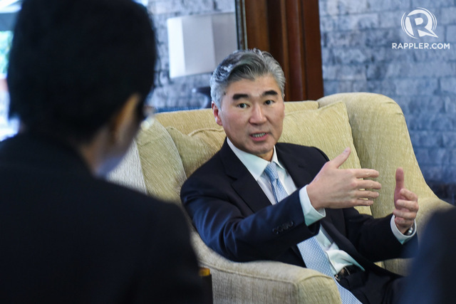 PH-US relations. US Ambassador Sung Kim  addresses questions at a media roundtable on January 24, 2017. Photo by LeAnne Jazul/Rappler